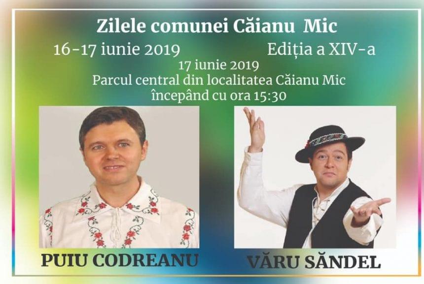 Puiu Codreanu și Văru Săndel vin la Zilele comunei Căianu Mic!