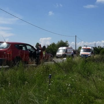 FOTO/VIDEO: Accident MORTAL la ieșirea din Blăjeni spre Șintereag