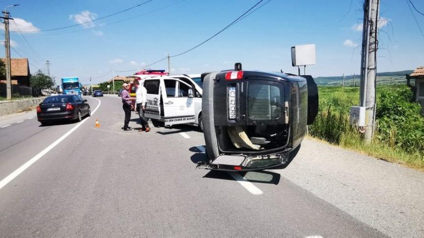 FOTO: Femeie din Căianu Mic, accidentată la Nima