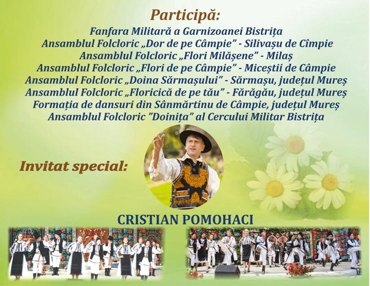 Spectacole folclorice extraordinare la Rebra, Şieu şi Silivaşu de Câmpie! Cine sunt artiştii invitaţi să cânte