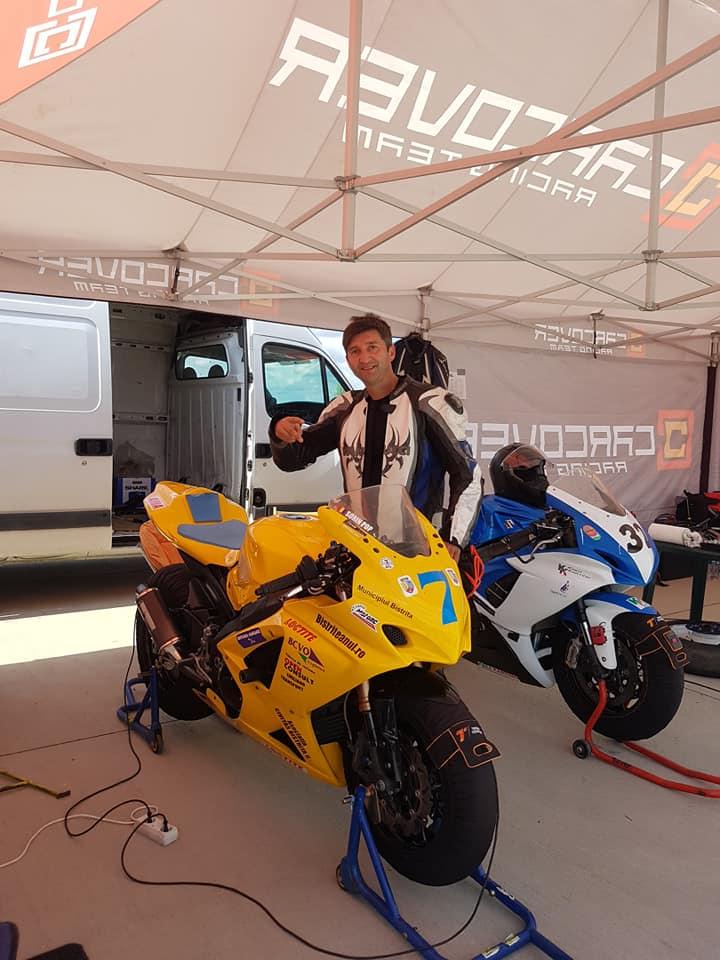 FOTO/VIDEO: Emoții mari azi pentru motociclistul Sorin Pop!