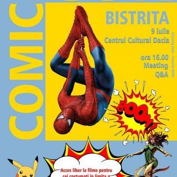 Iubitori ai benzilor desenate, animațiilor și filmelor cu supereroi, ADUNAȚI-VĂ! Primul Comic Con, pentru voi, la Bistrița!