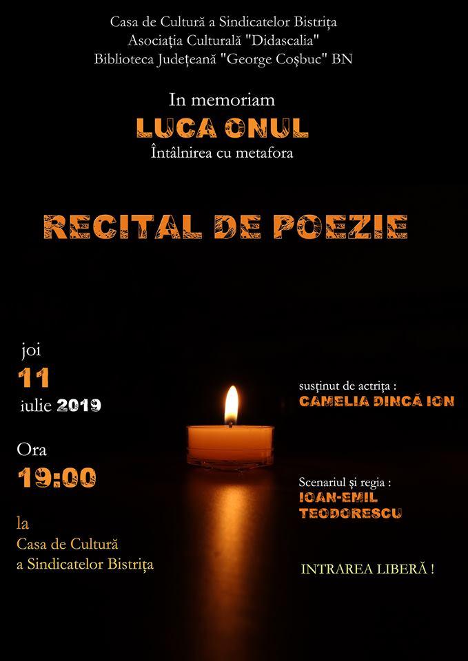 In memoriam: Luca Onul.  Întâlnirea cu metafora