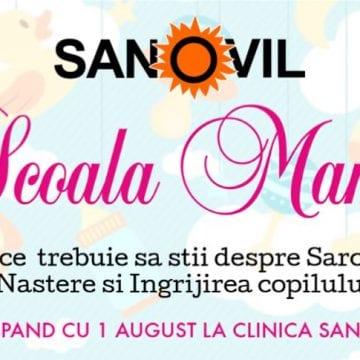 Şcoala Mamei, de săptămâna viitoare, la Clinica Sanovil
