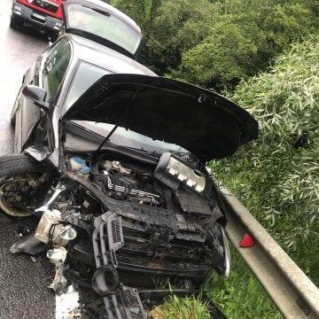 FOTO – Accident cu trei mașini, între Năsăud și Liviu Rebreanu!