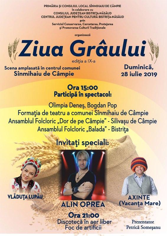 Ziua Grâului, celebrată la Sânmihaiu de Câmpie, cu teatru, muzică populară şi artificii