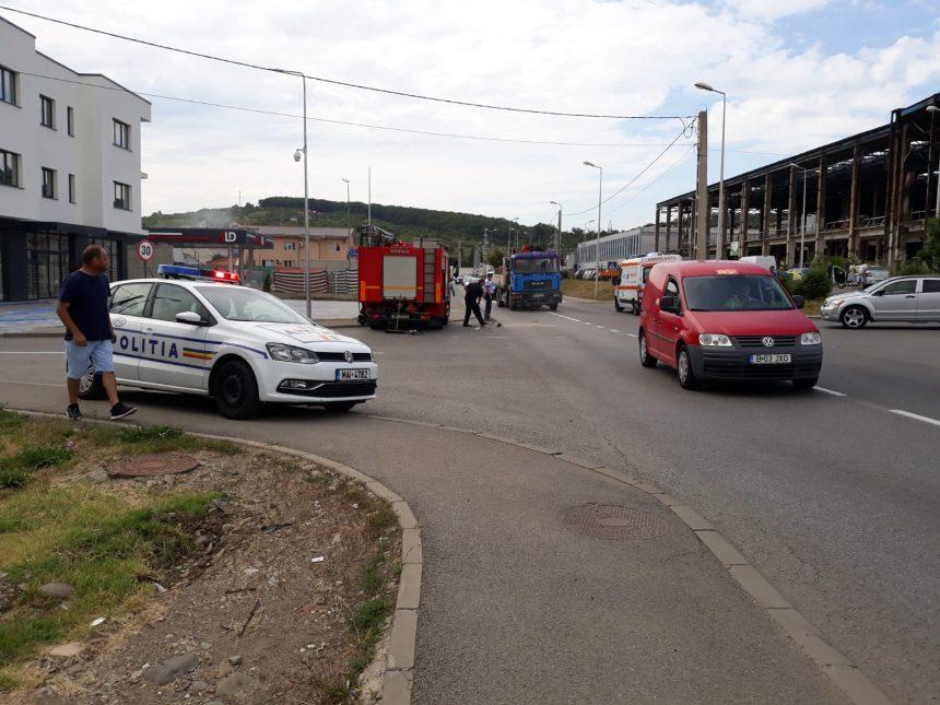 FOTO: Accident în față la Dedeman