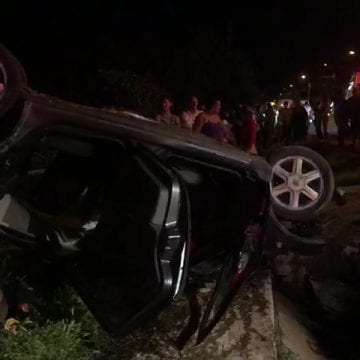 FOTO/VIDEO: Patru bistrițeni, printre care un copilaș de 10 ani, implicați într-un accident GRAV