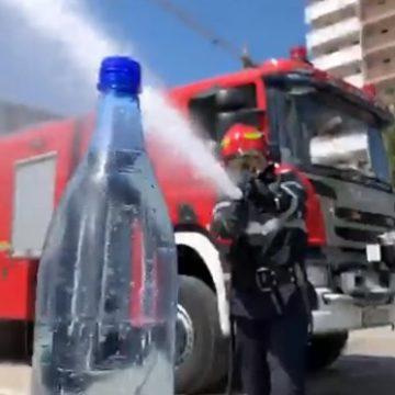 VIDEO:  Provocarea sticlei, varianta ISU Bistriţa! Cum să transformi un mesaj plictisitor, într-unul haios