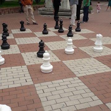 Poliția Locală dă replica: Au intervenit pentru că nuntașii nu puteau face poze de cei care jucau șah în Parc