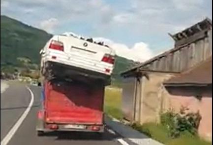 VIDEO: Scopul scuză mijloacele! Chiar și mijloacele de transport!