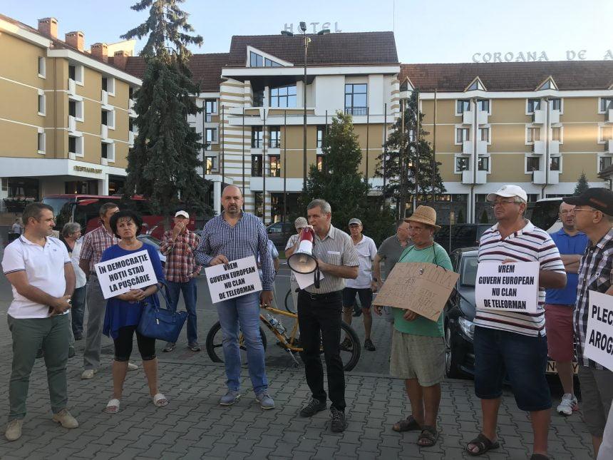 PROTEST: Bistrițenii vor să se facă dreptate! Peste 50 de oameni prezenți la miting