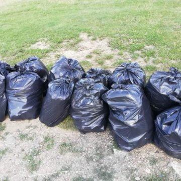 Performanță în doi oameni! Au adunat în câteva ore zeci de saci de gunoi de pe Dealul Budacului