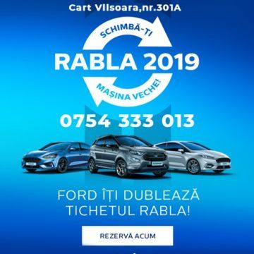 Schimbă-ţi maşina veche cu un model Ford! Preţuri speciale prin Programul Rabla!