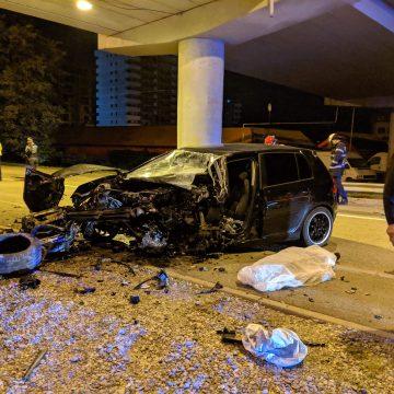 FOTO/VIDEO: Accident MORTAL sub pasarela de la Dedeman