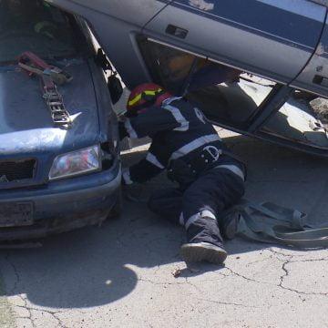 FOTO/VIDEO: Trei jurnaliști bistrițeni și-au văzut moartea cu ochii!