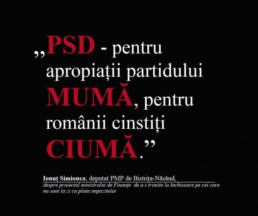 Ionuț Simionca: PSD – pentru protejații partidului mumă, pentru românii cinstiți ciumă!