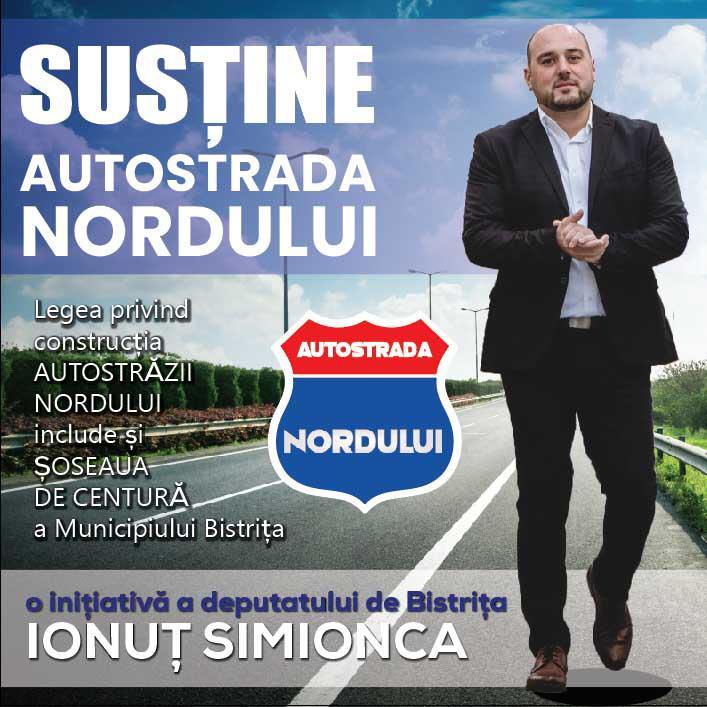 Ionuț Simionca (PMP): Sunt onorat de susținerea lui Radu Moldovan, dar nu vreau ca Autostrada Nordului să intre în zona promisiunilor deșarte ale PSD