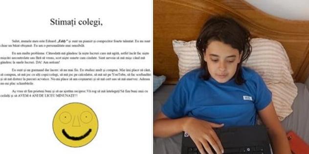 Răscolitor: Scrisoarea unui băiat cu autism către colegii lui de liceu