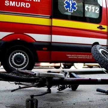 Biciclist grav accidentat în Viile Tecii