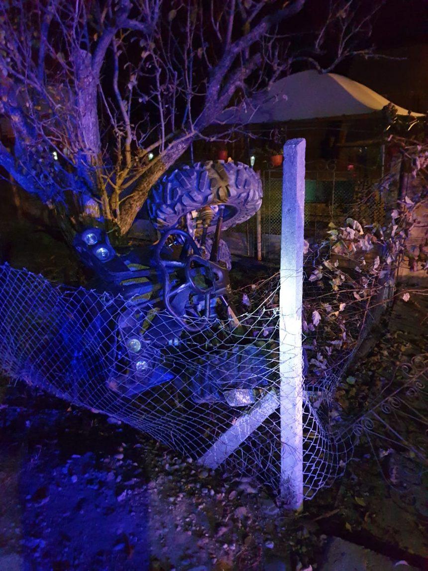 GRAV accident în centrul Sâniacobului. Un ATV s-a răsturnat, iar victima este în stop cardiorespirator