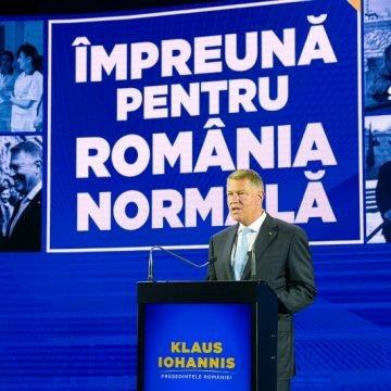 """ALEGERI 2019: Klaus Iohannis și-a prezentat programul prezidențial """"Împreună pentru România normală"""""""