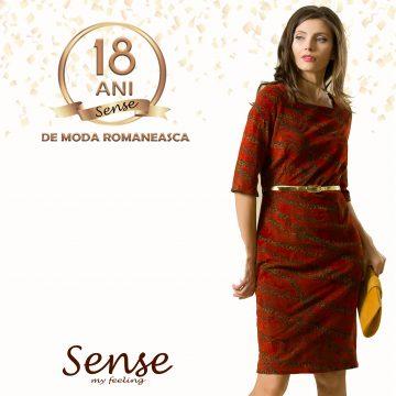 SENSE aniversează 18 ani de modă românească! Discounturi speciale, pentru toţi clienţii, drept răsplată