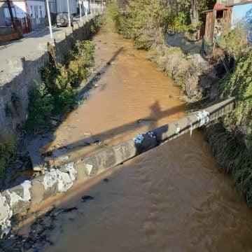 FOTO Poluare pe Someșul Mare! Minele închise de la Rodna fac din nou ravagii