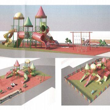 BUCURIE: Un nou spațiu de joacă, de 180 mp, pe o stradă din Bistrița