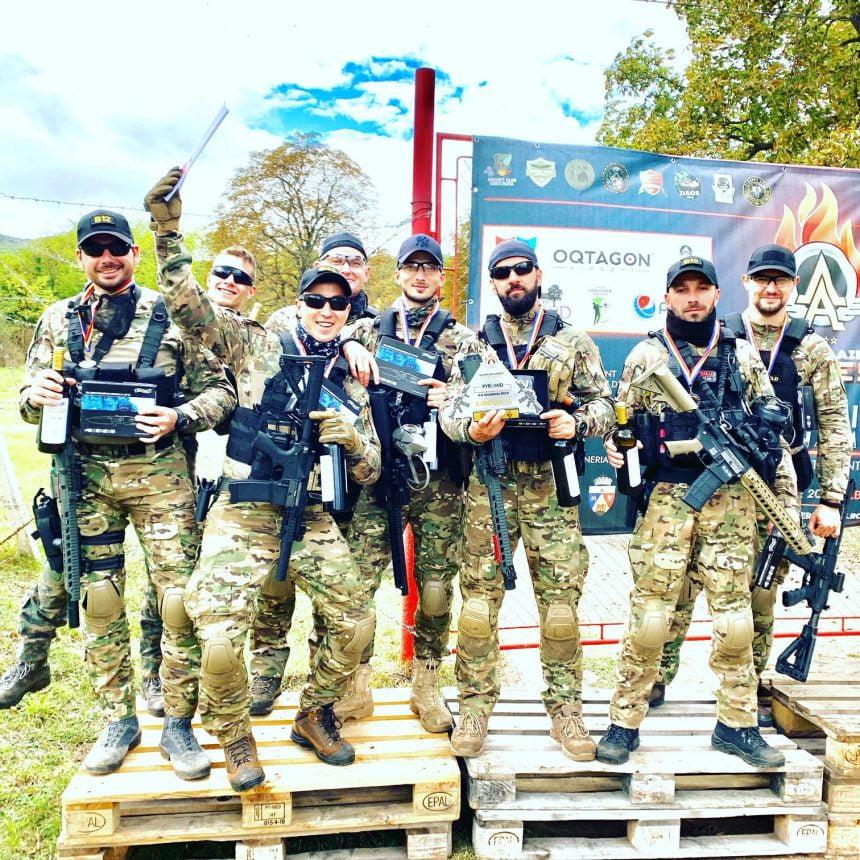 Cu o tactică de luptă bună au țintit și au urcat pe podium la Concursul Național de Airsoft de la Alba