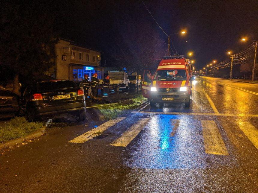 FOTO: Accident pe Libertății din cauza lucrărilor la o gură de canal