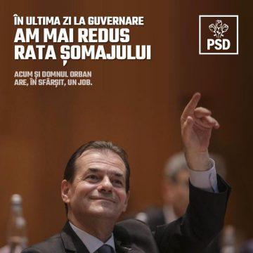 ALEGERI 2019.  PSD: Și în ultima zi de guvernare am redus rata șomajului!