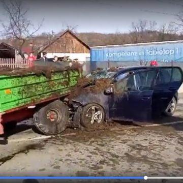 VIDEO: Accident cu victimă încarcerată, la Rebrișoara!