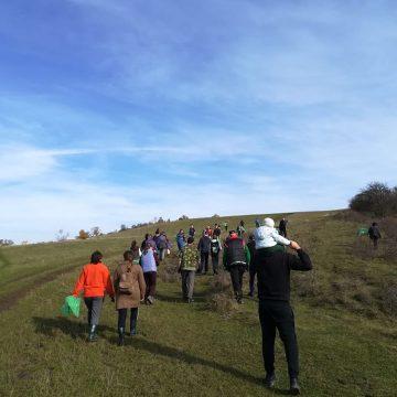 FOTO: Lecția de ecologie de la Jeica! Și-au scos copiii de 2 ani pentru a-i învăța să iubească natura