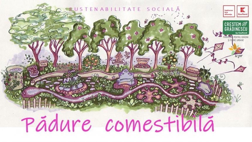 """INEDIT! """"Pădurea comestibilă"""" – proiectul inovator pus pe picioare de un liceu și o asociație"""