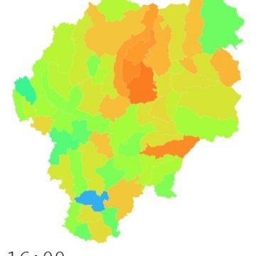HARTA INTERACTIVĂ – Prezența la vot la ora 16.00: