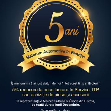 Materom Automotive aniversează 5 ani de activitate în Bistriţa!