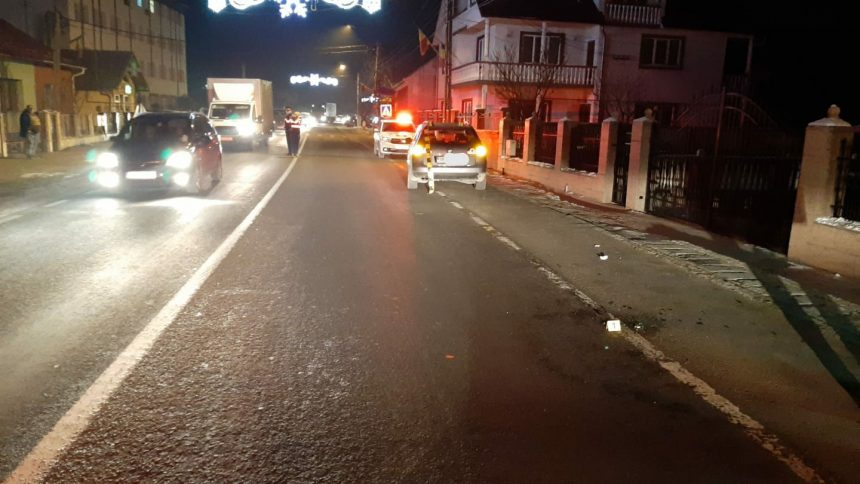 Băut bine, un bărbat a fost accidentat în Beclean în timp ce trecea strada neregulamentar