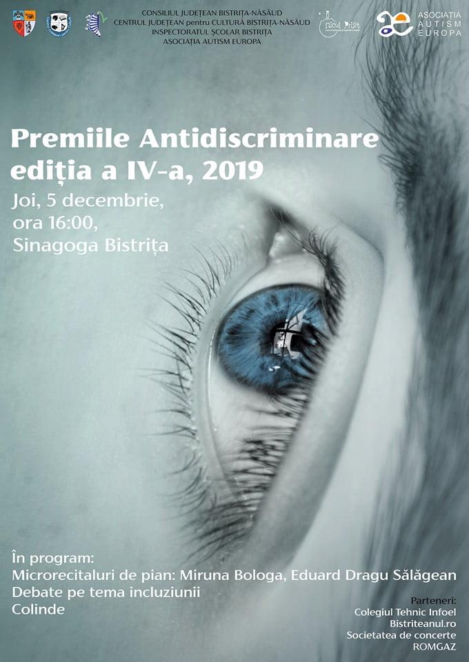 BISTRIŢA: Se decernează Premiile Antidiscriminare, în 5 decembrie, la Sinagogă