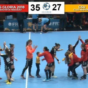 Liga Florilor: Gloria 2018 pulverizează U Cluj și se pregătește de înfruntarea cu ERD în Cupa EHF