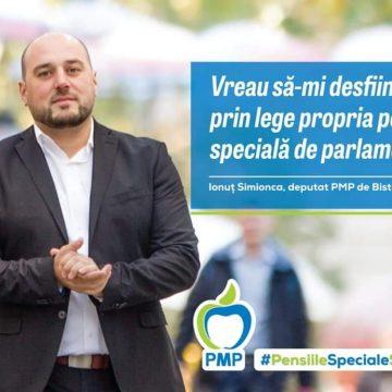 Victorie pentru deputatul PMP Ionuț Simionca. Parlamentul va vota eliminarea pensiilor speciale