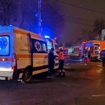 FOTO/VIDEO – Bistrița: Bunic mort într-un incendiu la un apartament pe strada Odobescu