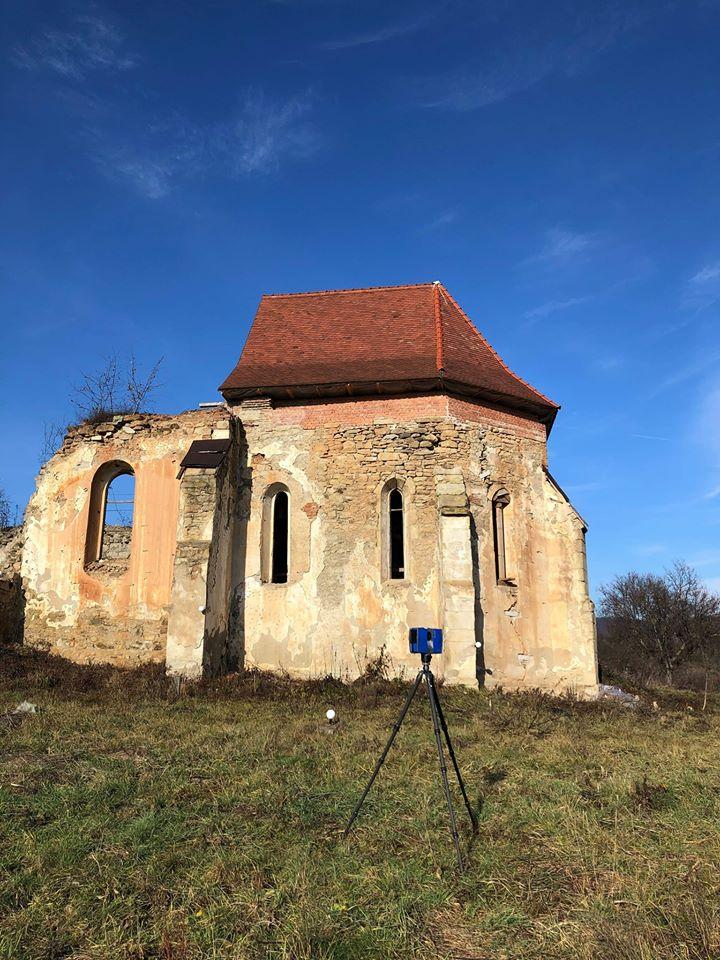 FOTO Biserica de la Jelna, în care s-a descoperit o copie a capodoperei pictorului Giotto, scanată cu laser 3D