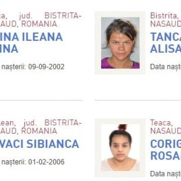 FOTO: Patru fete căutate la nivel național! Trei au plecat din Centrele din Teaca și Beclean!
