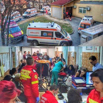 FOTO: Coadă de ambulanțe la UPU Bistrița!