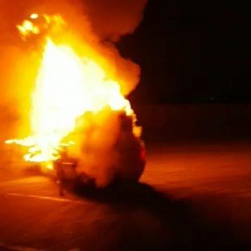 VIDEO: A ars ca o torță, la trecerea dintre ani