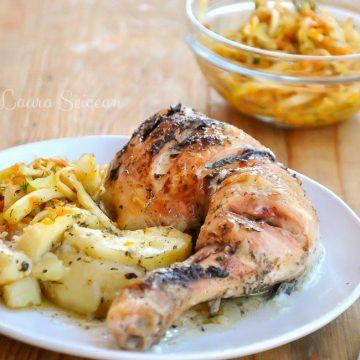 Friptură de pasăre și cartofi gratinați la cuptor, bunătatea din farfuria pacienților de la spital