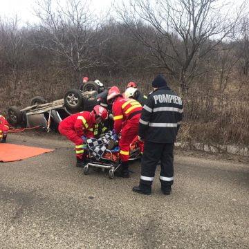 TEACA: Un bărbat a murit, după ce s-a răsturnat cu mașina