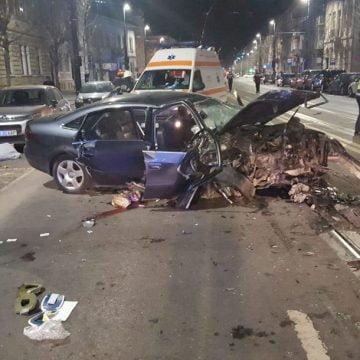 FOTO/VIDEO: Un tânăr bistrițean și-a pierdut viața într-un GRAV accident în Cluj-Napoca