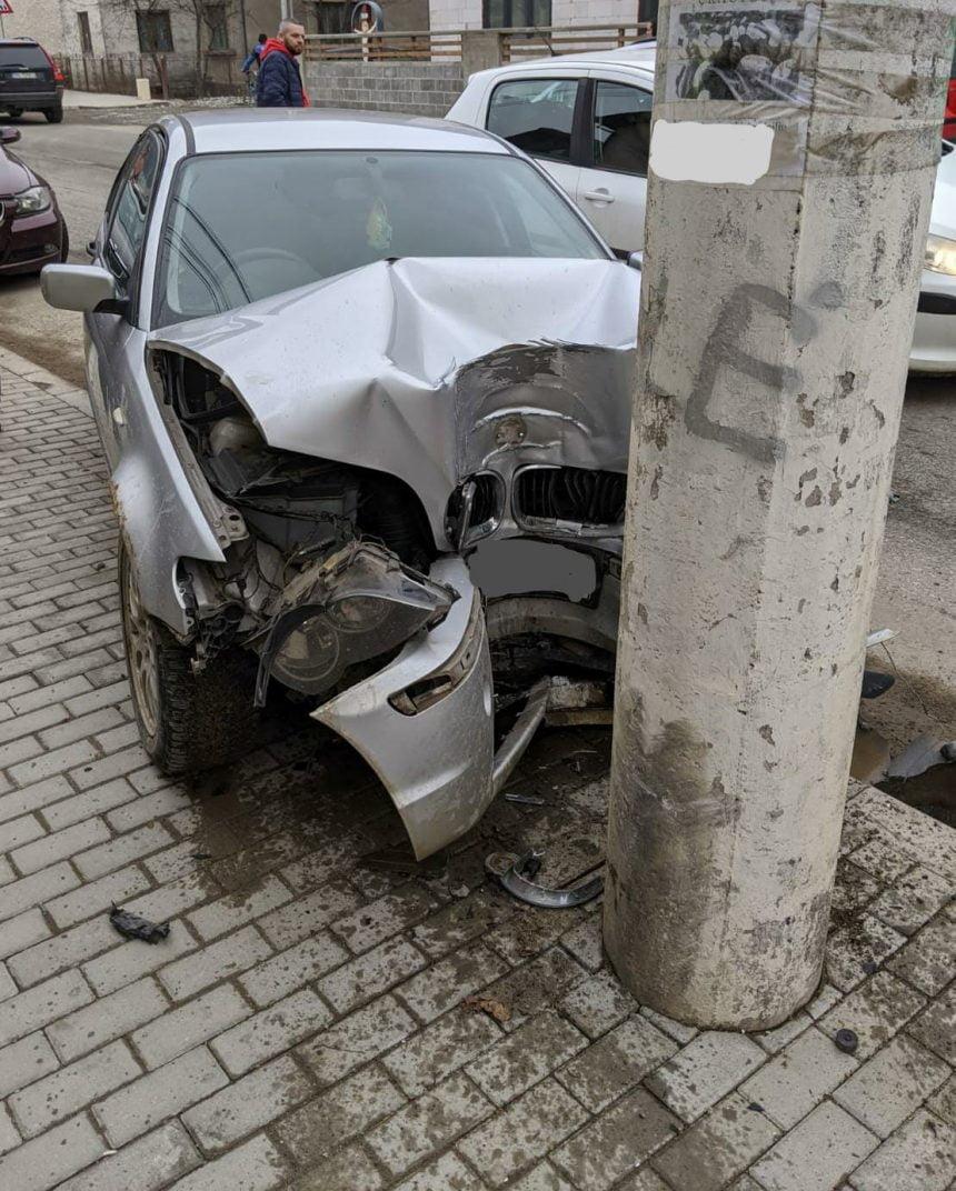 A virat fără să se asigure și a provocat un accident